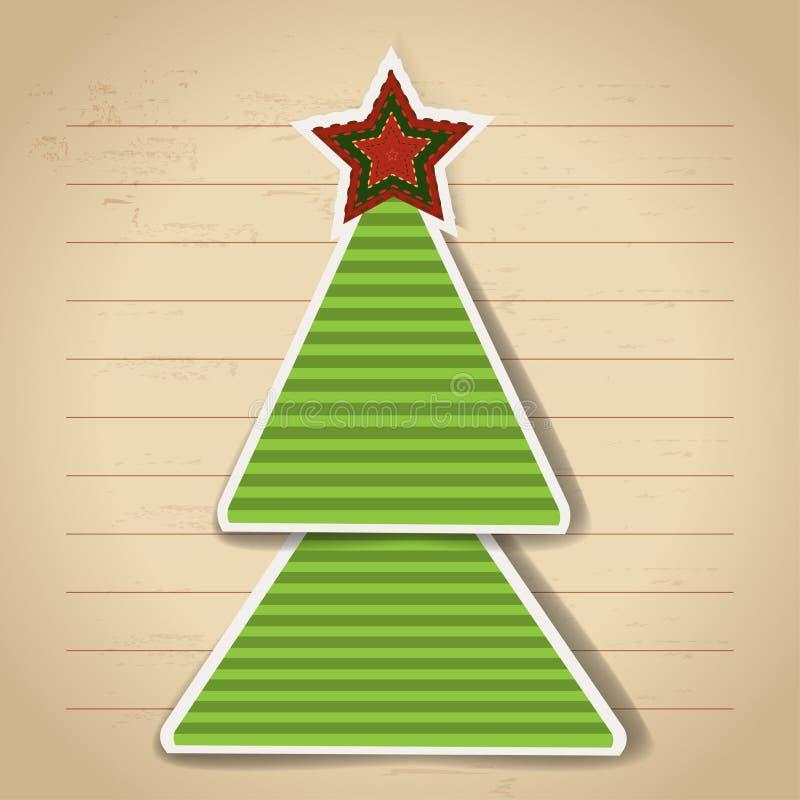 Download Árvore de Natal de papel ilustração do vetor. Ilustração de poster - 29841417