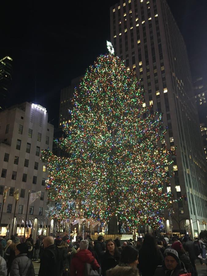 Árvore de Natal de Rockerfella fotografia de stock