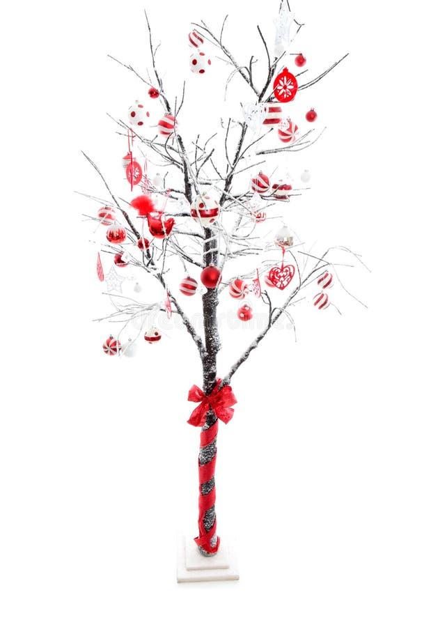 Árvore de Natal decorada fotografia de stock