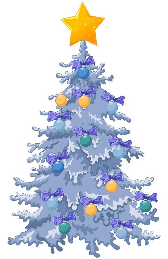 Árvore de Natal decorada ilustração do vetor