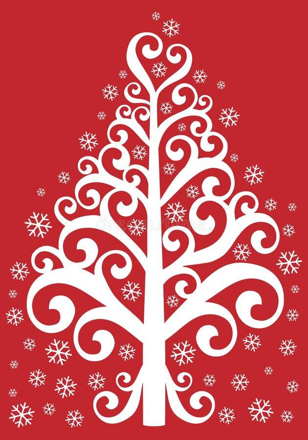 Árvore De Natal Decorativa Imagem de Stock