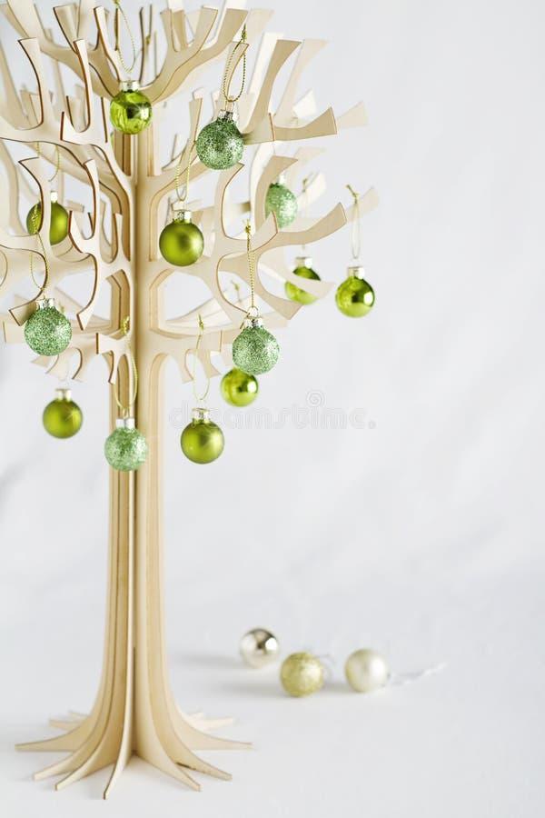 Árvore de Natal do desenhista com espaço claro para o texto fotos de stock