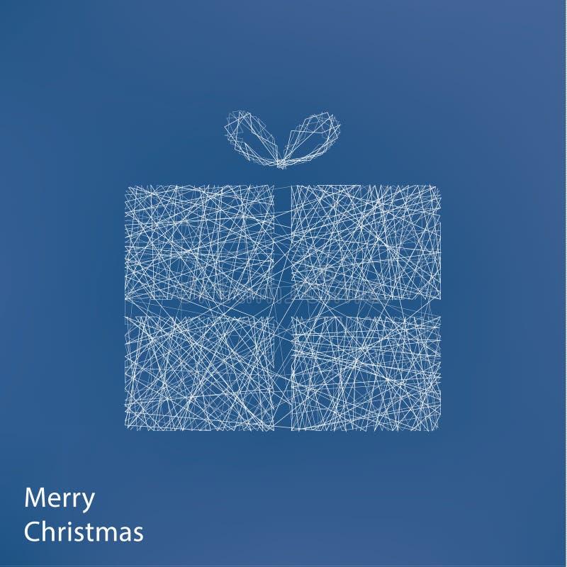 Árvore de Natal do esboço do vetor Fundo moderno do Natal com ilustração do vetor