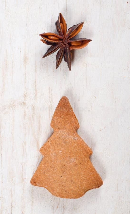 Árvore de Natal do pão-de-espécie fotografia de stock