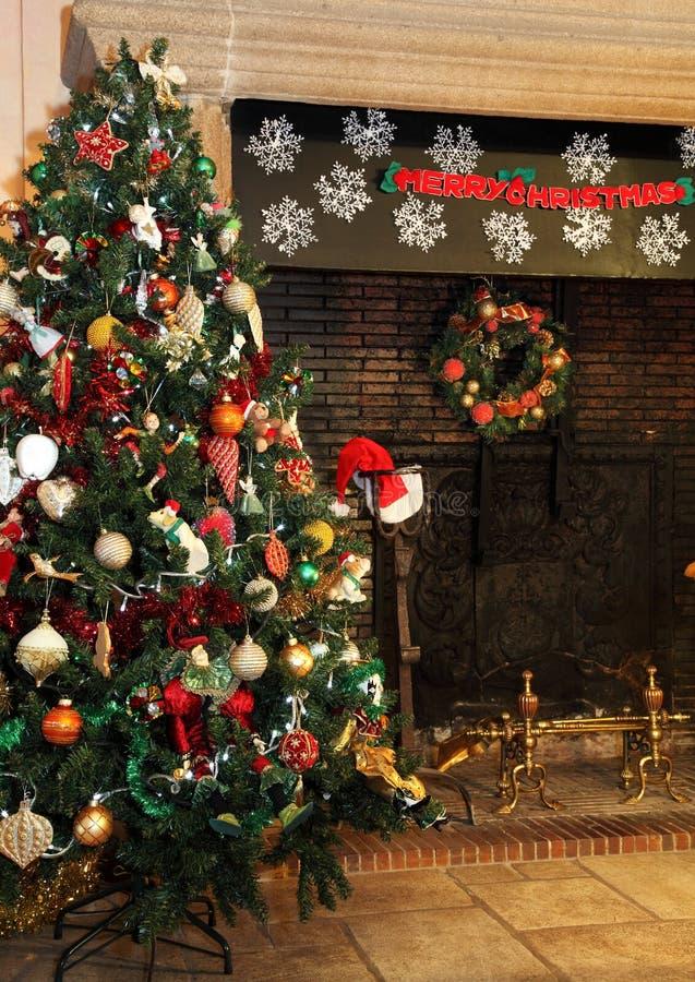 Árvore de Natal do país fotos de stock royalty free