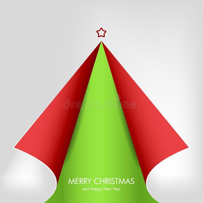 Árvore de Natal do papel de canto ondulado ilustração stock