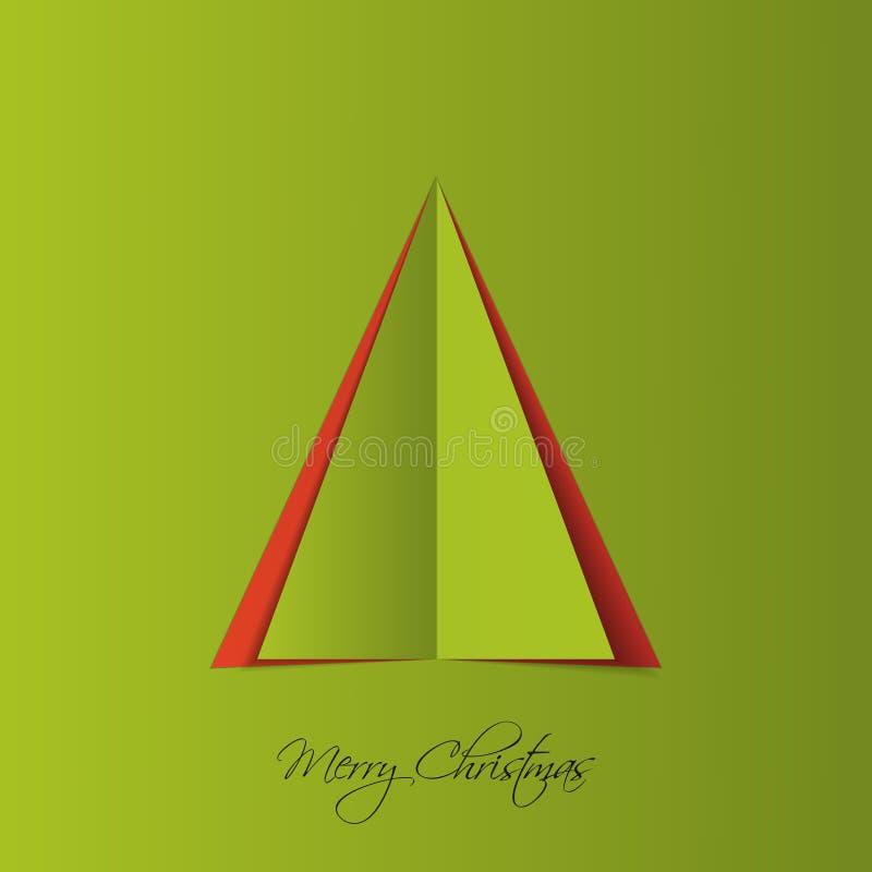 Árvore de Natal do papel verde Vetor ilustração do vetor
