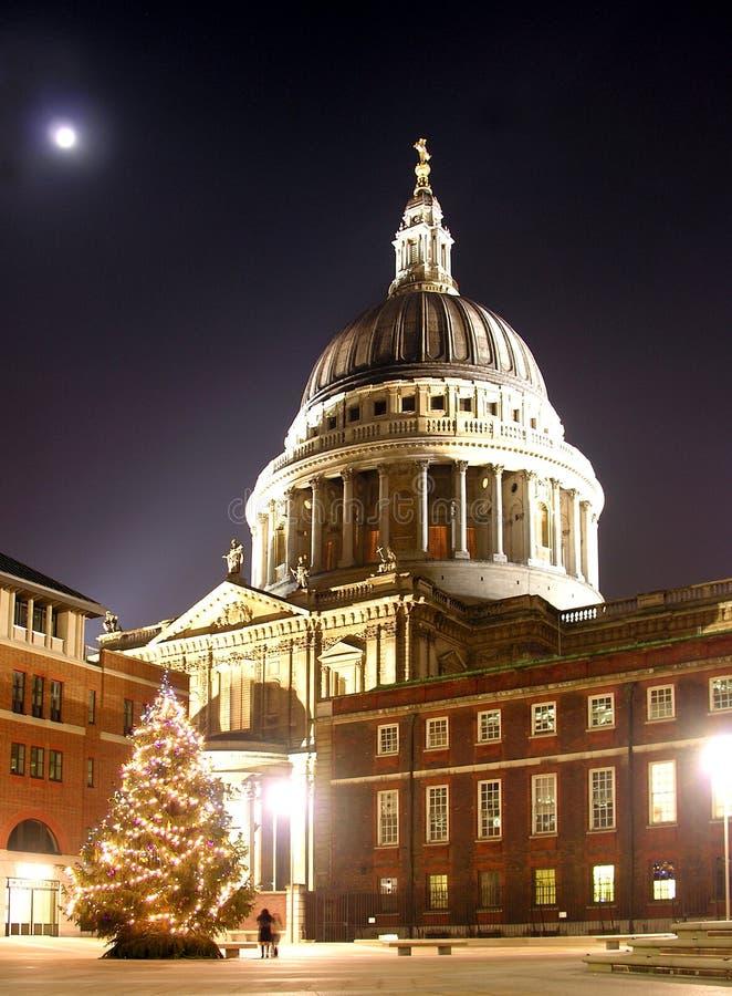 Árvore de Natal do St Paul imagem de stock royalty free