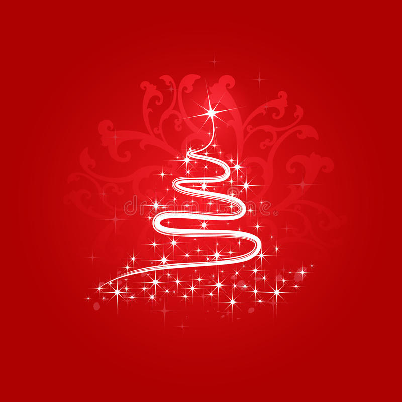 Árvore de Natal do vetor ilustração do vetor