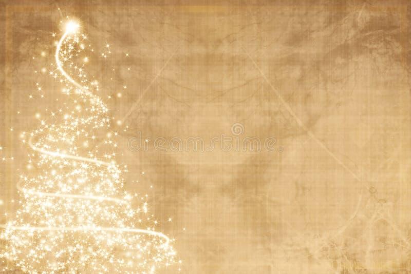 Árvore de Natal do vintage ilustração do vetor