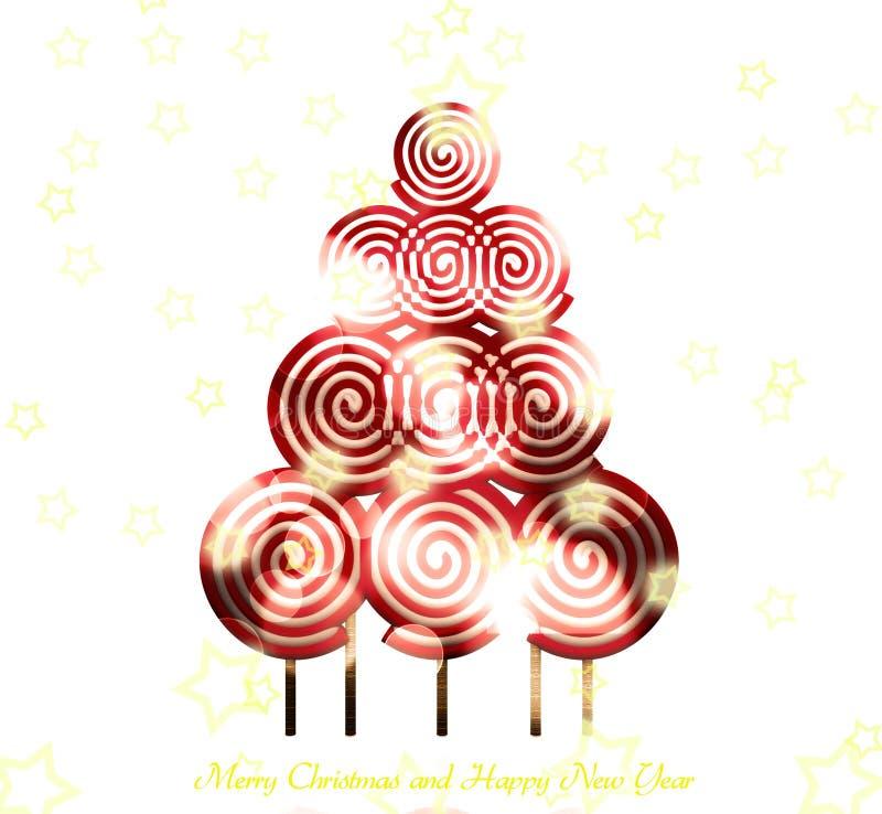 Árvore de Natal doce - 3D ilustração stock