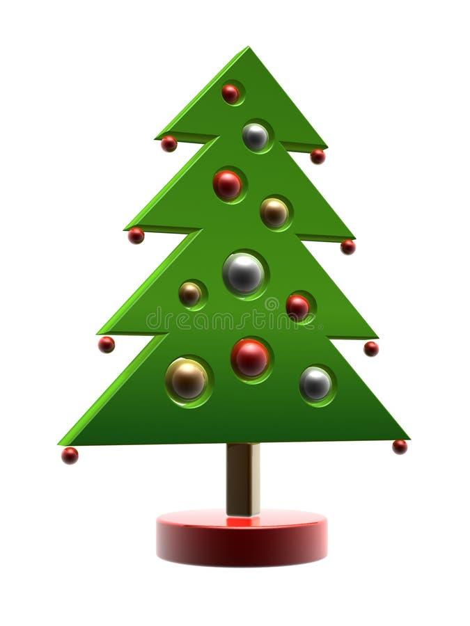 Árvore de Natal dos desenhos animados ilustração do vetor