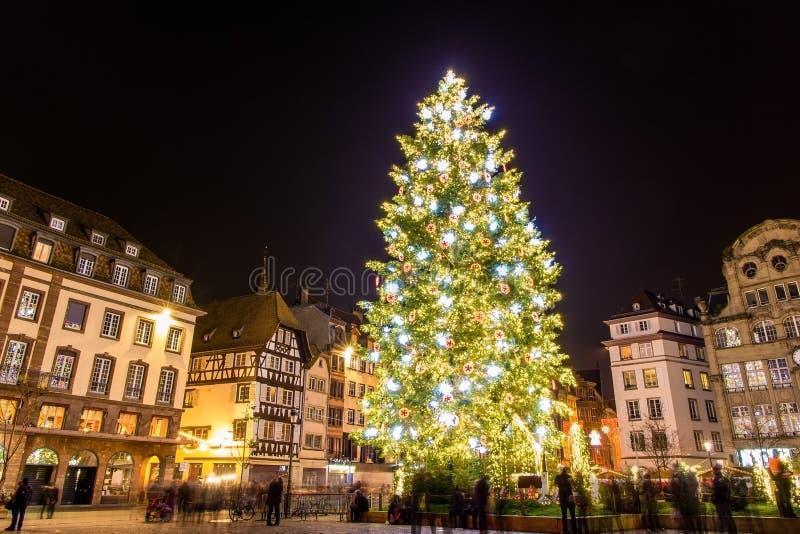 Árvore de Natal em Strasbourg fotografia de stock