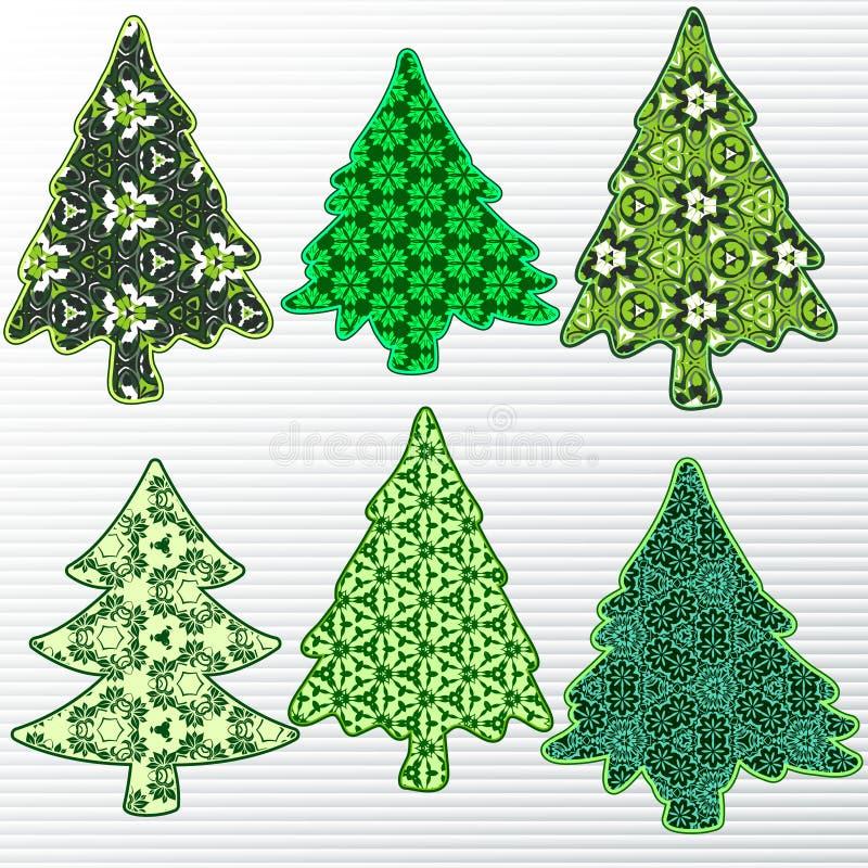Árvore de Natal em um fundo vermelho ilustração stock