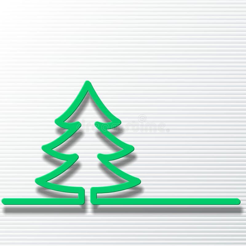 Árvore de Natal em um fundo vermelho ilustração royalty free