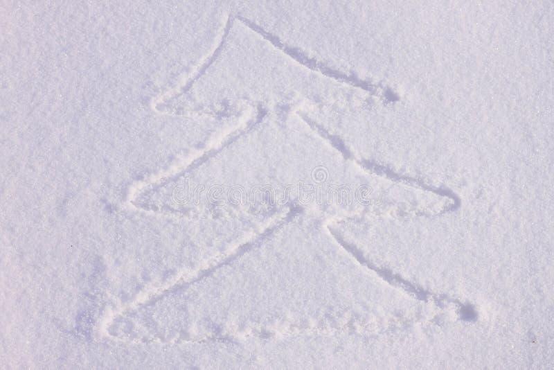 Download Árvore De Natal Em Uma Neve Foto de Stock - Imagem de feriado, christmas: 26513438