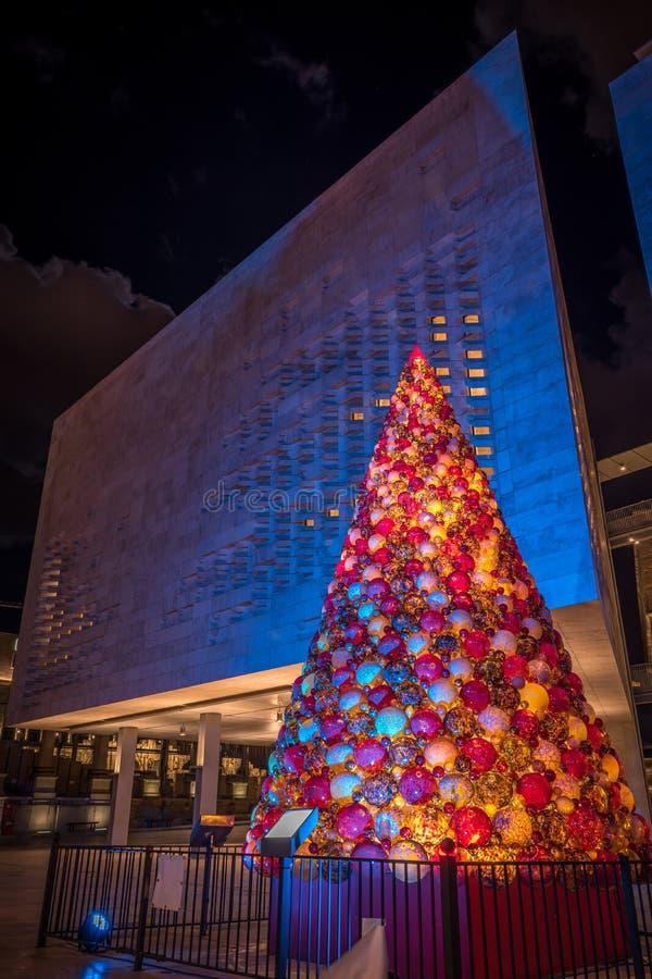 Árvore de Natal em Valletta fotografia de stock