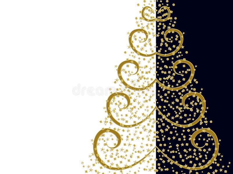 Árvore de Natal estilizado ilustração royalty free