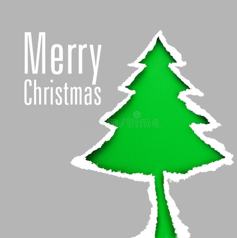 Árvore de Natal (fácil remover o texto) fotos de stock