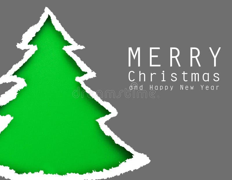 Árvore de Natal (fácil remover o texto) fotografia de stock royalty free