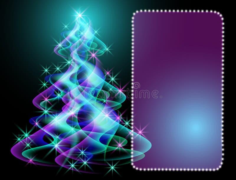 Árvore de Natal fantástica ilustração stock
