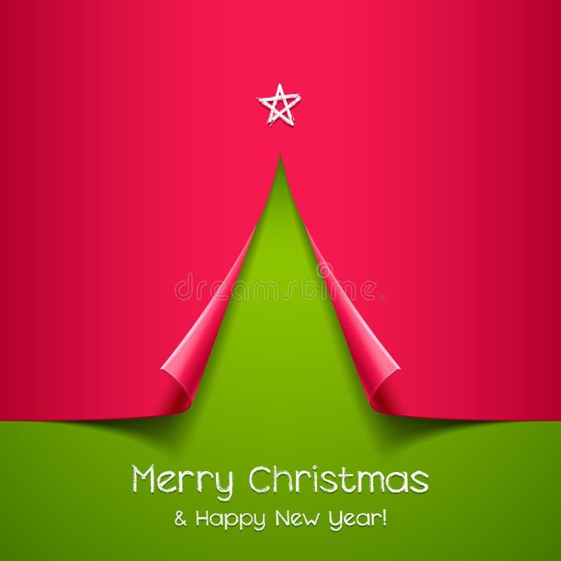 Árvore de Natal feita do papel fotografia de stock