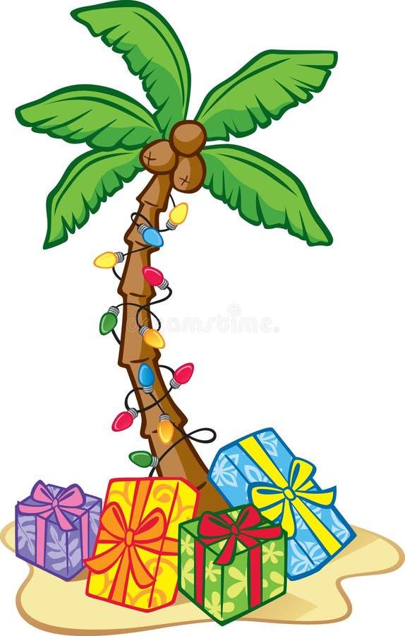 Árvore de Natal havaiana ilustração stock