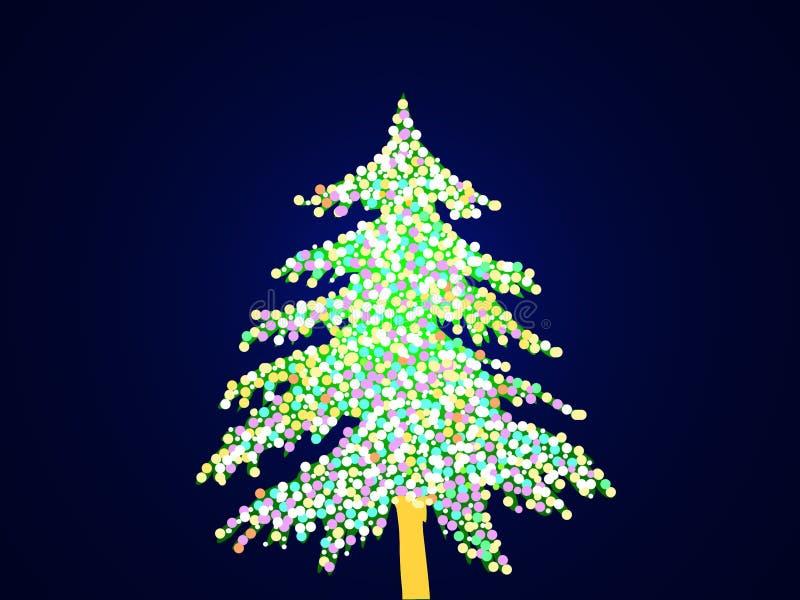 Árvore de Natal iluminada imagem de stock