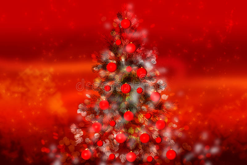 Árvore de Natal mágica foto de stock