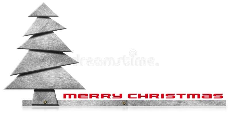 Árvore de Natal metálica e estilizado ilustração royalty free