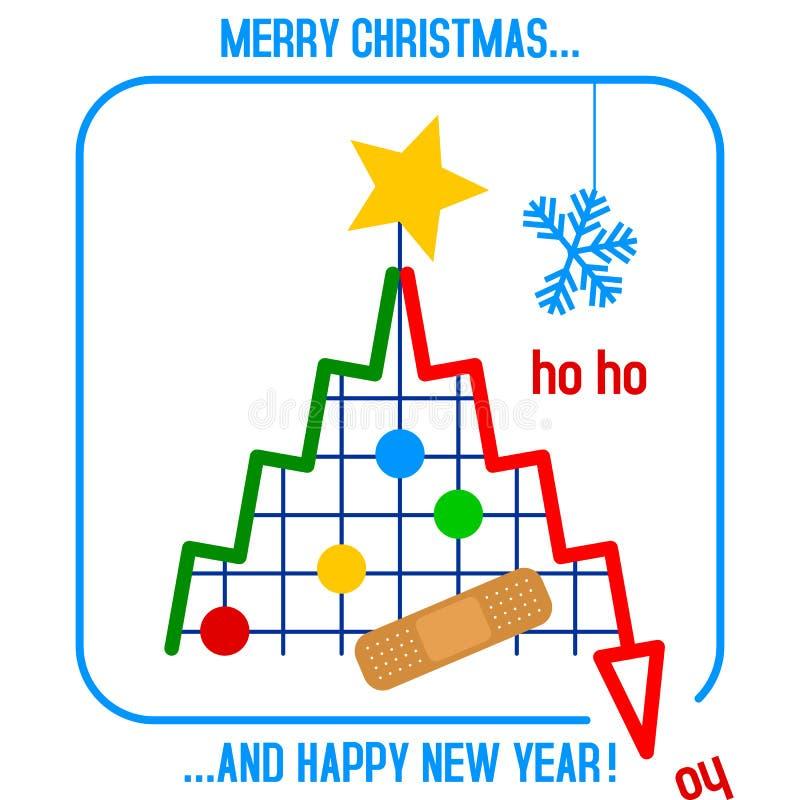 Árvore de Natal na crise ilustração royalty free