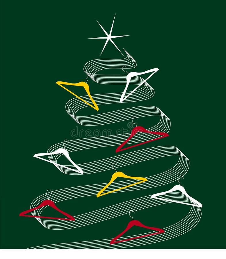 Árvore de Natal na moda ilustração do vetor