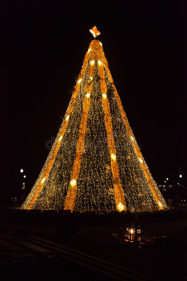 Árvore de Natal nacional foto de stock