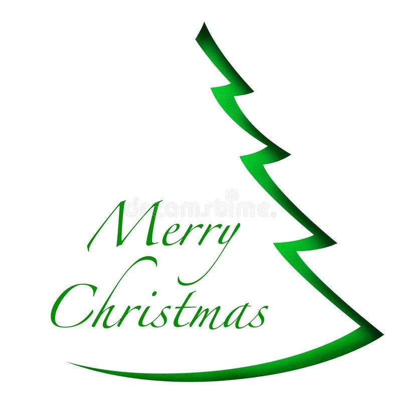 Árvore de Natal no fundo branco foto de stock