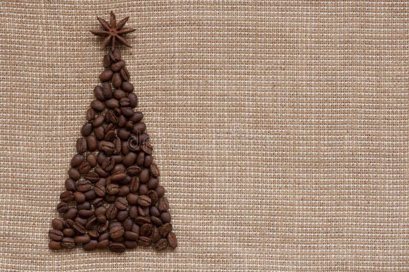 Árvore de Natal no fundo do saco imagens de stock royalty free