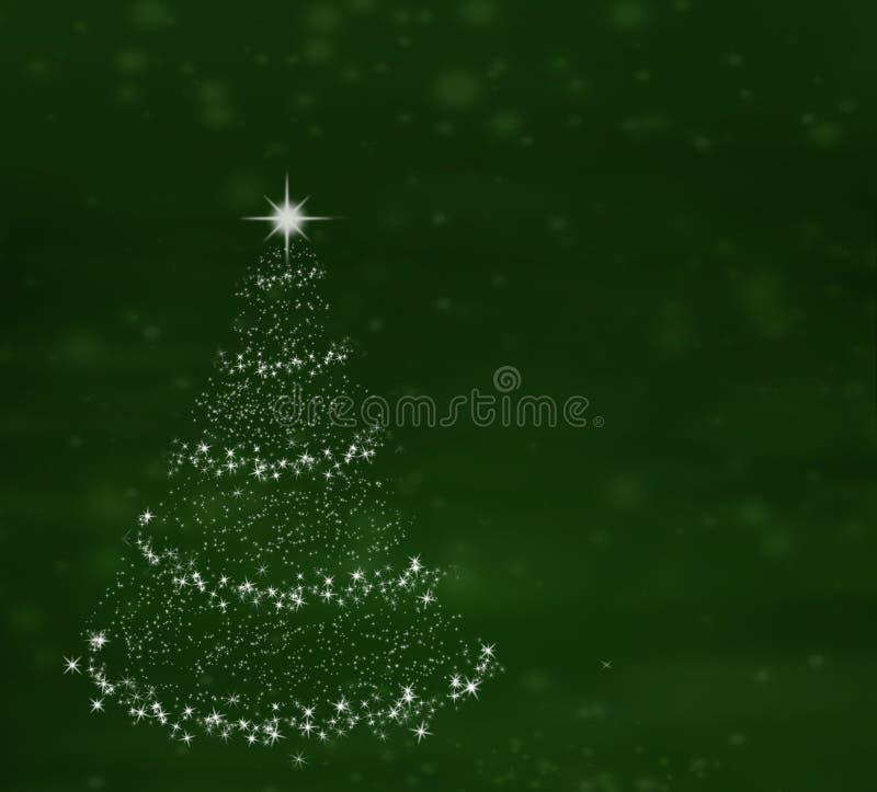 Árvore de Natal no fundo verde imagem de stock royalty free