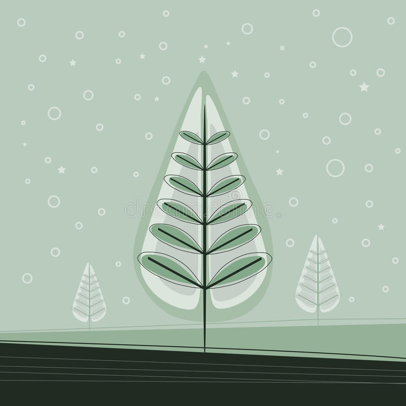 Árvore de Natal simples ilustração stock