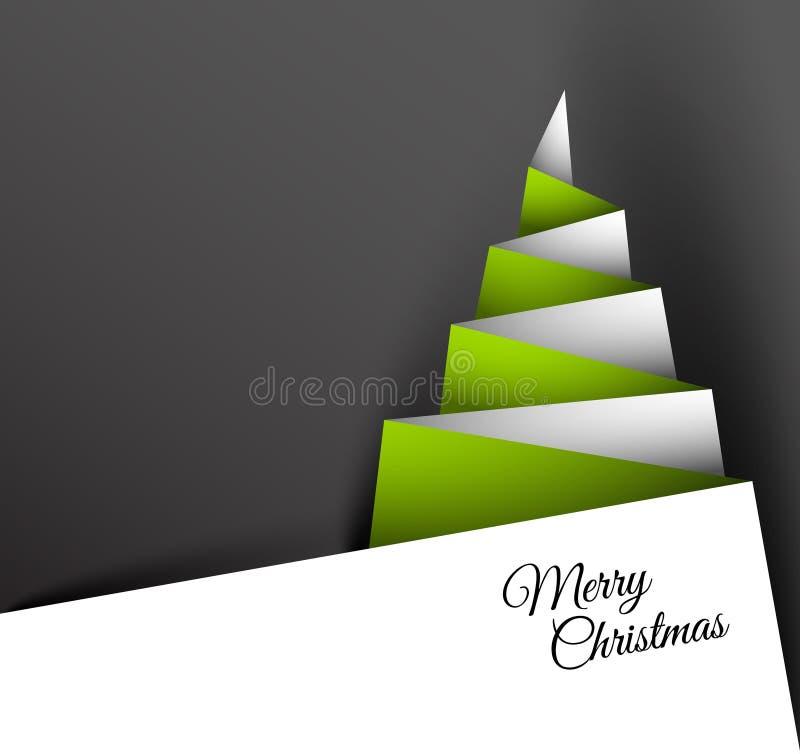 Árvore de Natal simples feita do papel ilustração do vetor
