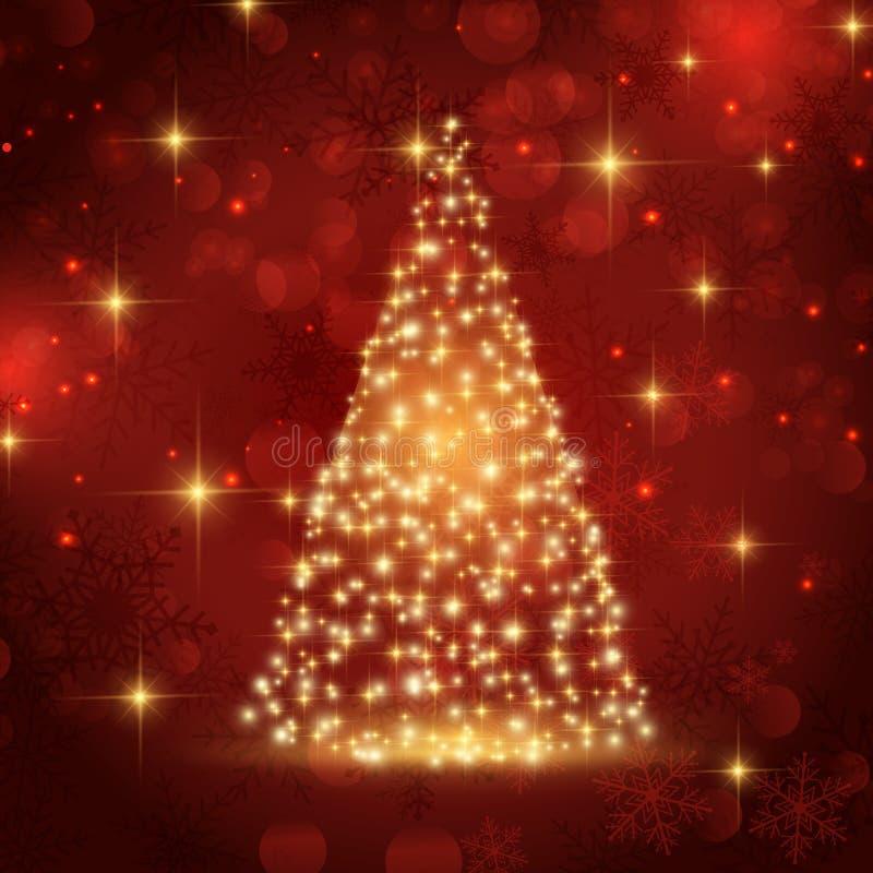 Árvore de Natal Sparkling ilustração royalty free