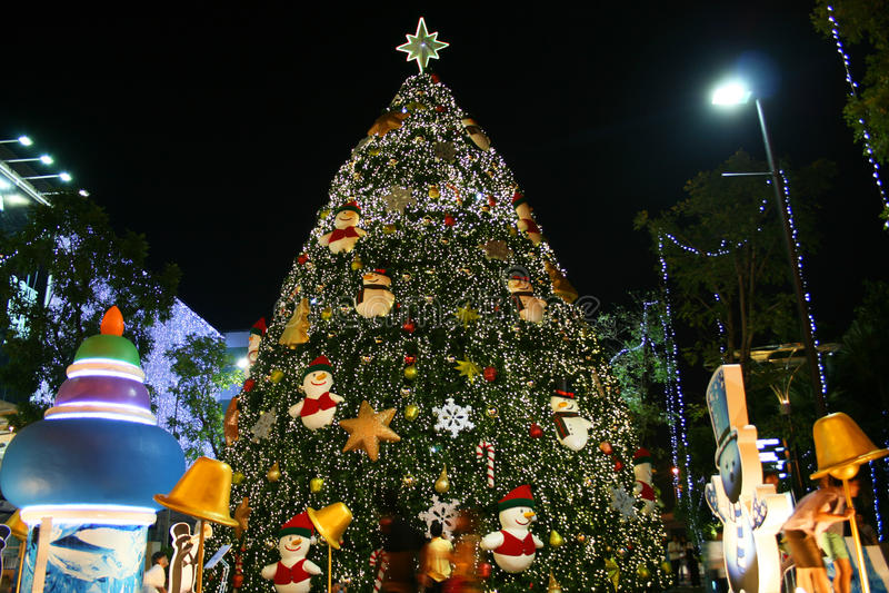 Árvore de Natal, Tailândia. foto de stock