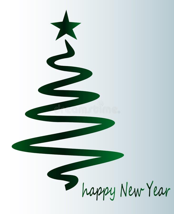Árvore de Natal verde - cartão festivo bonito ilustração do vetor