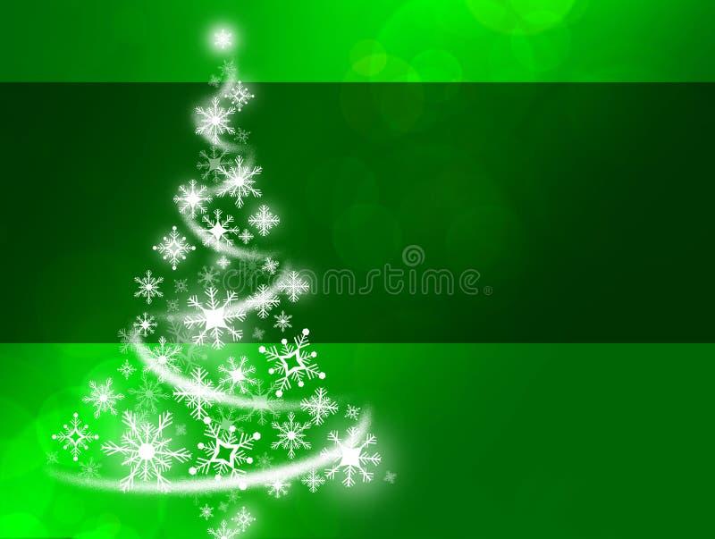 Árvore de Natal verde do floco de neve ilustração stock