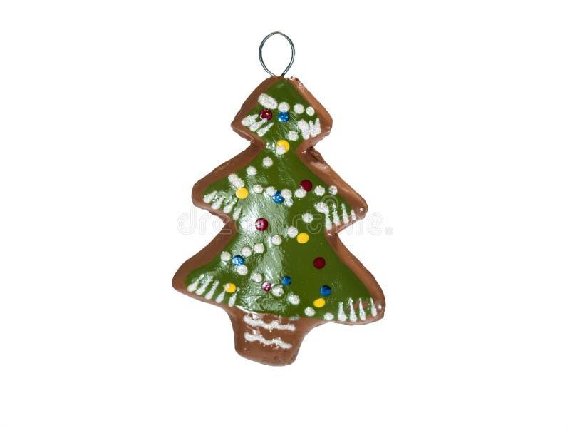 Árvore de Natal verde do pão-de-espécie foto de stock
