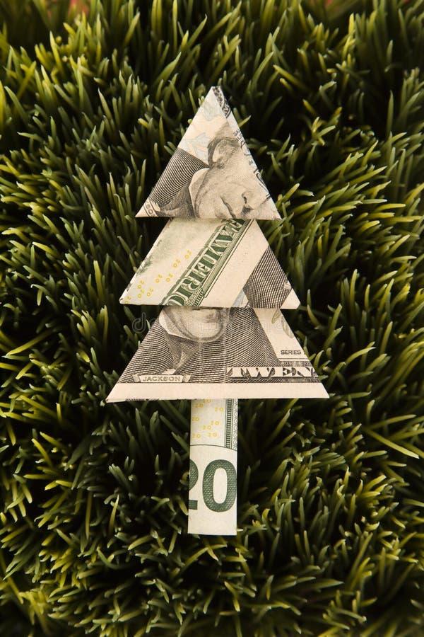 Árvore de Origami feita da conta imagens de stock