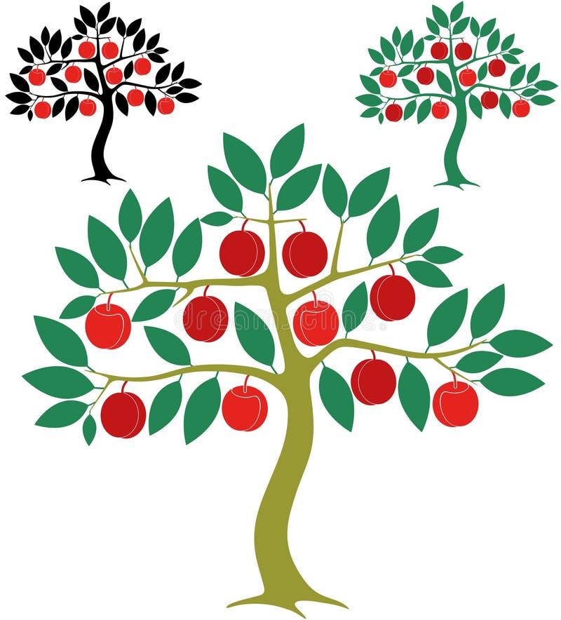 Árvore de pêssego ilustração royalty free