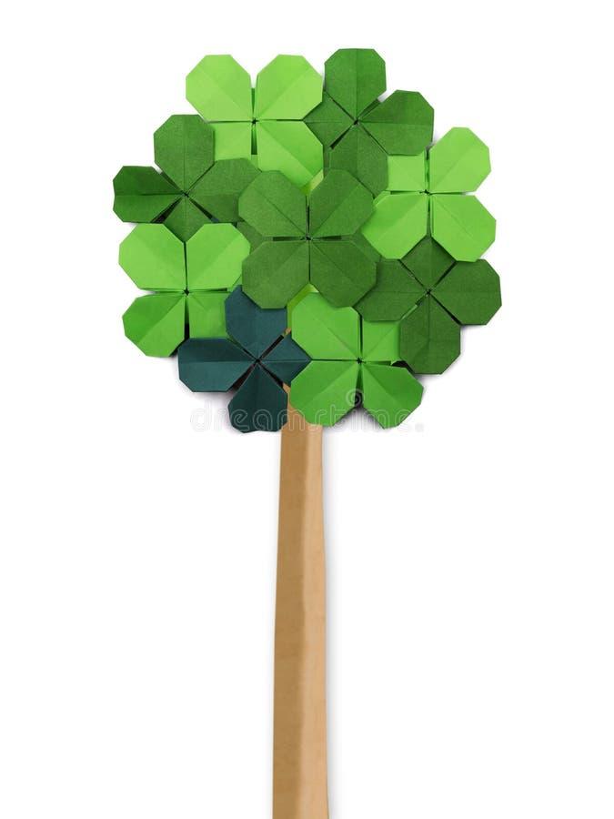 Árvore de papel do origâmi imagem de stock