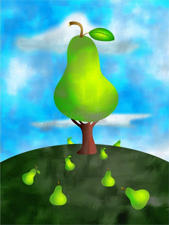 Árvore de pera ilustração stock