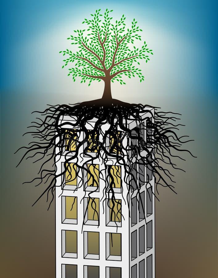 Árvore de Towerblock ilustração stock