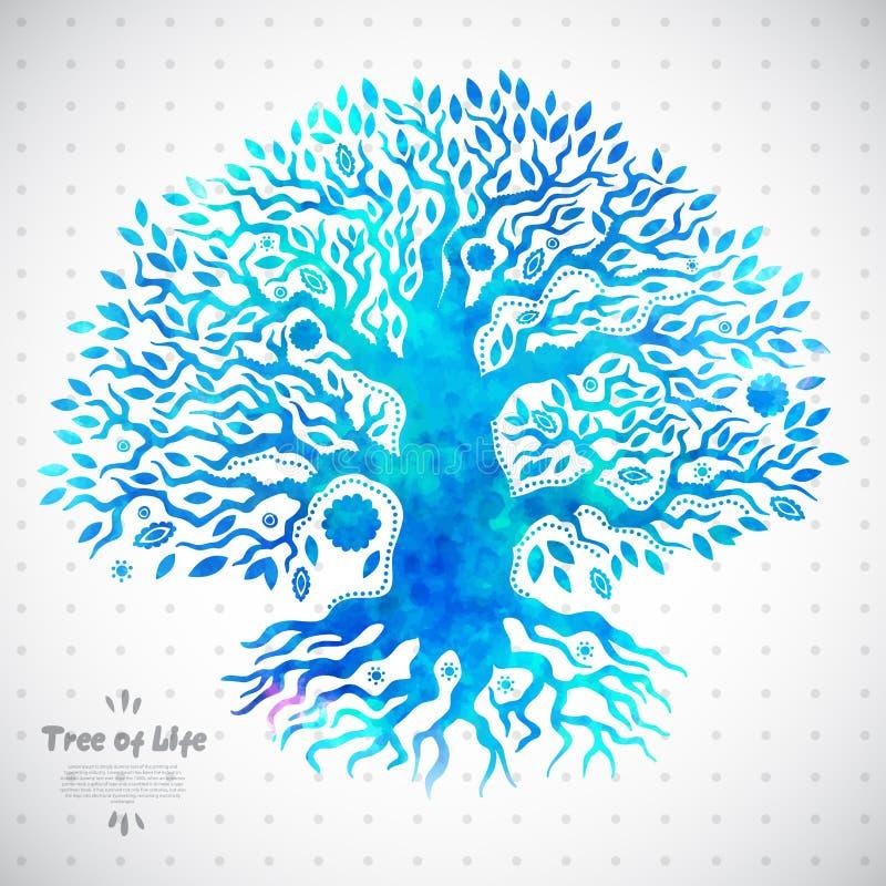 Árvore de vida étnica original ilustração royalty free