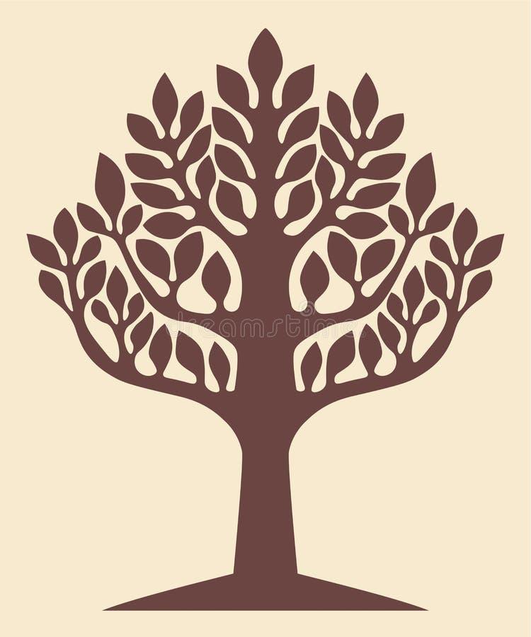 Árvore de vida Yggdrasil ilustração royalty free